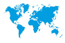 This photo shows the world map