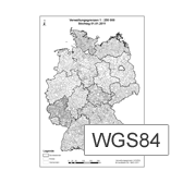 This picture shows a map of Germany in german language